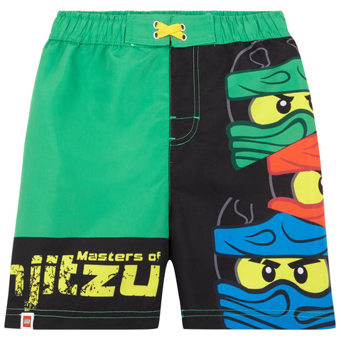 Lego Ninjago Boy's Swimming Trunks / Shorts 3-10 Years - Green