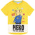 Fireman Sam Short Sleeve Cotton Top, T-Shirt 2-6 Years - Yellow