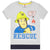Fireman Sam Short Sleeve Cotton Top, T-Shirt 2-6 Years - Grey