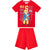 Fireman Sam Short Sleeve Cotton Pyjamas, Pajamas Set 2-6 Years - Red
