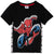 Spiderman Boys Short Sleeve 100% Cotton Top T-Shirt 3-9 years - Black