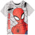 Spiderman Boys Short Sleeve Cotton Top 3-9 years - Grey