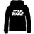 Star Wars Boys Hoodie, Hooded Zipped Cotton Sweatshirt 7-12 years - Black