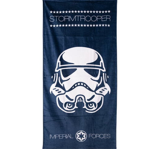 Star Wars, Stormtrooper Beach Bath Towel 100% Cotton - Navy