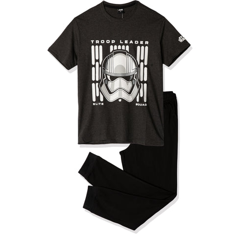 Star Wars Men's Pyjamas, T-Shirt and Trousers Set M- XXL - Grey/Black