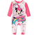 Disney Minnie Mouse Baby Girls Sleepsuit, Sleeping Onesie 0-24 months - Fuchsia