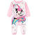 Disney Minnie Mouse Baby Girls Sleepsuit, Sleeping Onesie 0-24 months - Pink