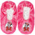 Disney Minnie Mouse Girl's Slippers Warm Cosy Coral Fleece & Sherpa - Fuchsia