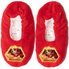Paw Patrol Boy's House Slippers Warm Cosy Coral Fleece & Sherpa - Red