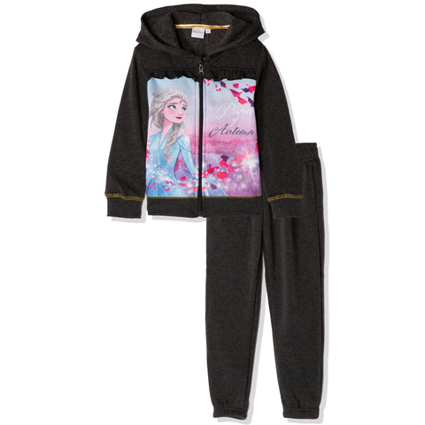 Disney Frozen II Hoodie and Sweatpants Outfit Set for Girls 3-8 years - Grey