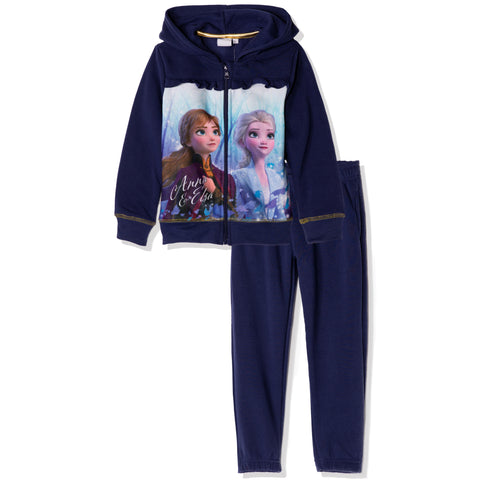Disney Frozen II Hoodie and Sweatpants Outfit Set for Girls 3-8 years - Navy