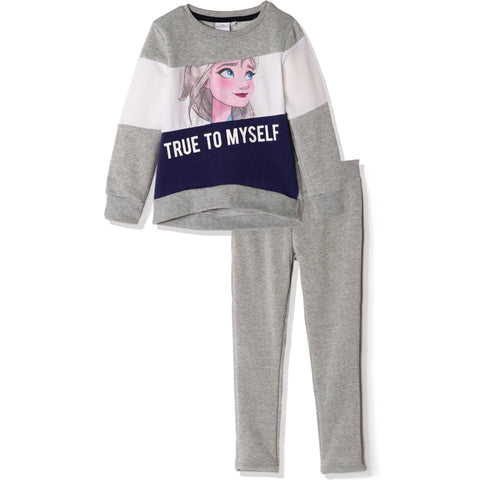 Disney Frozen II Sweatshirt and Sweatpants Outfit Set for Girls 3-8 years - Grey