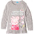 Peppa Pig 100% Cotton Long Sleeve Tunic Top for Girls 2-6 years - Grey