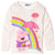 Peppa Pig 100% Cotton Long Sleeve Top/T-Shirt for Girls 2-6 years - Off White