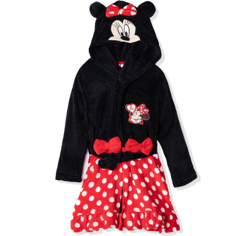 Disney Minnie Mouse Hooded Bathrobe/Dressing Gown for girls 2-8 years