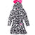 L.O.L. Surprise! Hooded Bathrobe/Dressing Gown in Zebra pattern for girls 4-10 years