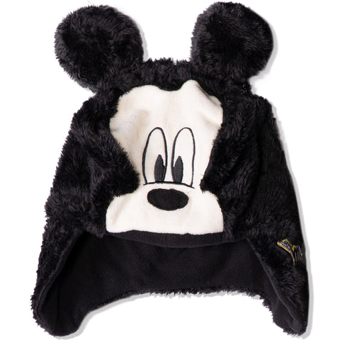 Disney Mickey Mouse Baby Boys, Girls winter Trapper hat 0-2 Years - Dark Grey
