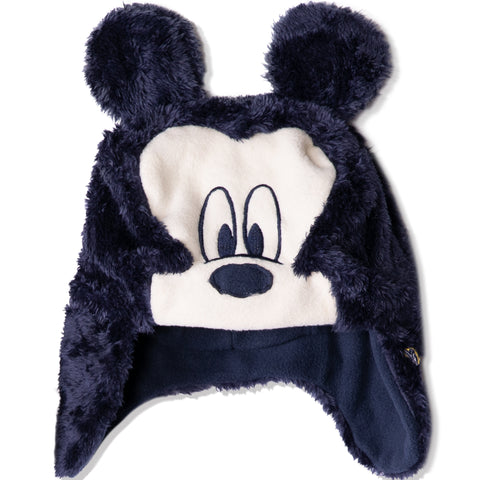 Disney Mickey Mouse Baby Boys, Girls winter Trapper hat 0-2 Years - Navy