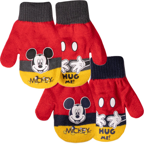 Disney Mickey Mouse Baby Boys, Girls Winter Gloves/Mittens - Set of 2 pairs