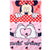 Disney Minnie Mouse Character Blanket Soft Polar Fleece 150 x 100 cm - Red