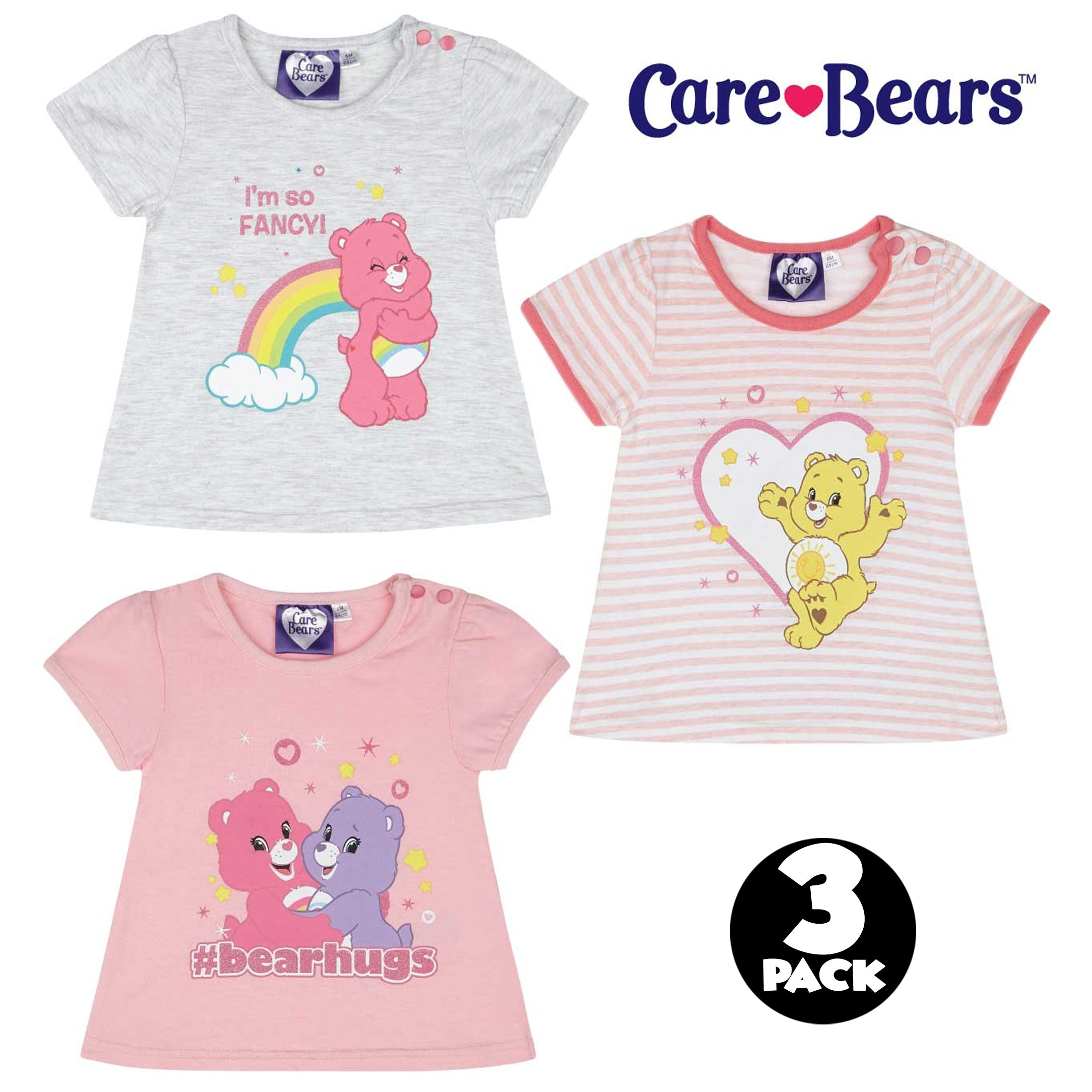 b530814f9 Cary Bears Original Baby Girls 3-PACK, Multi Pack T-Shirt Cotton ...