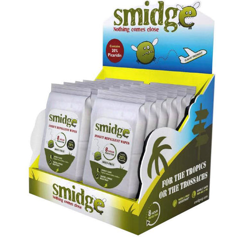 Smidge Repellent Wipes (wholesale)