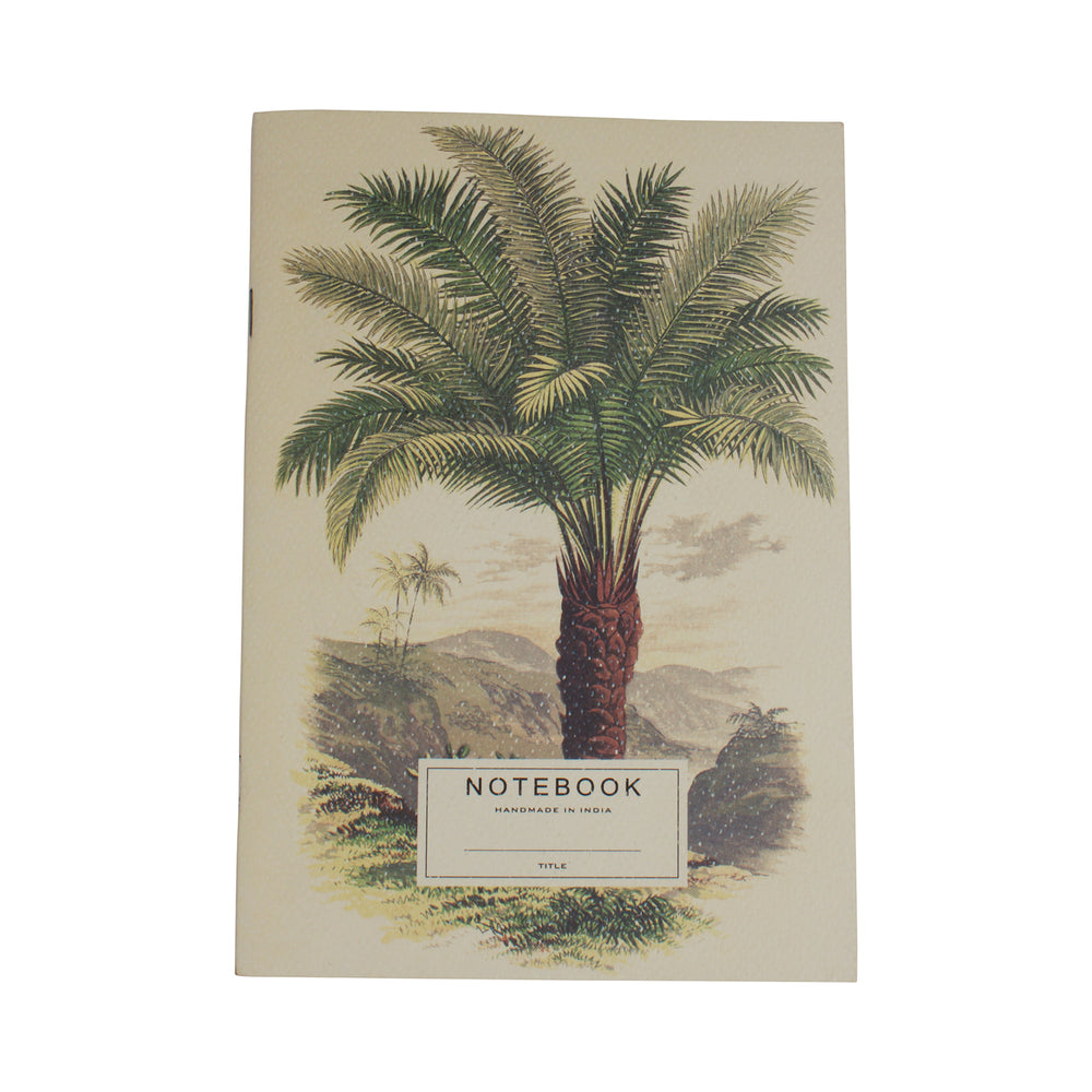 Recycled Paper Notebook Palm Tree