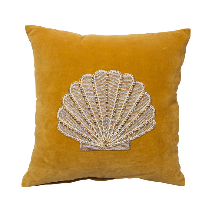 Velvet Cushion Shell Mustard