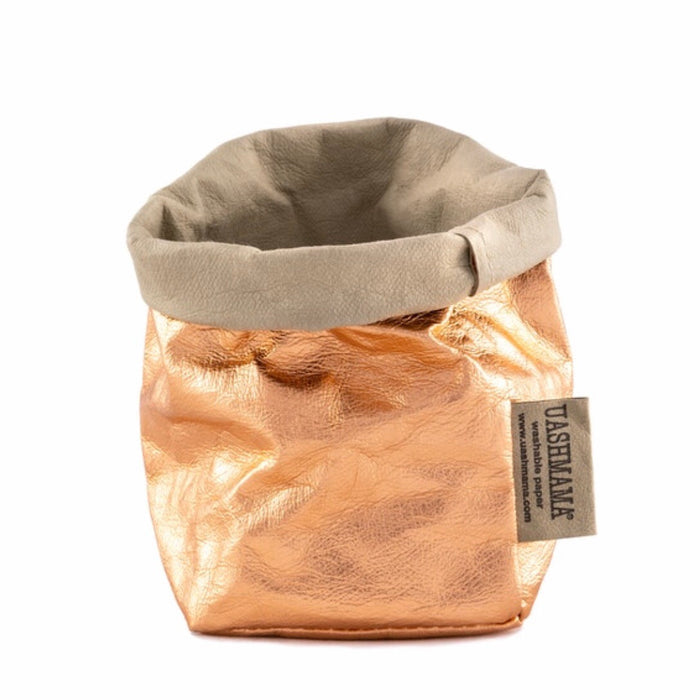 UASHMAMA Metallic Piccolo Paper Bag Rose Gold