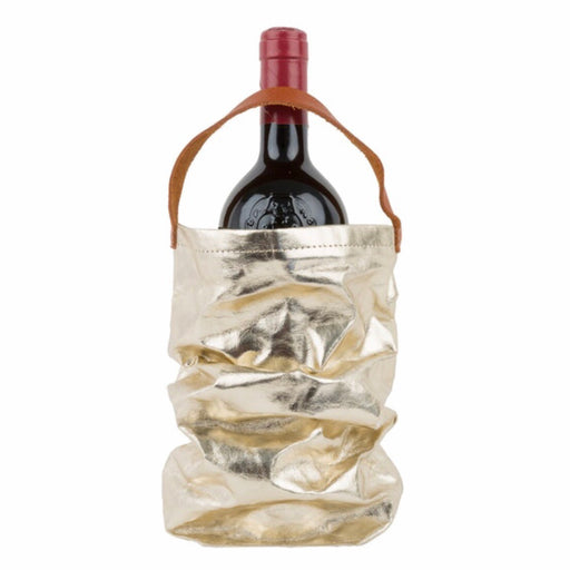 UASHMAMA Metallic Wine Bag Platino