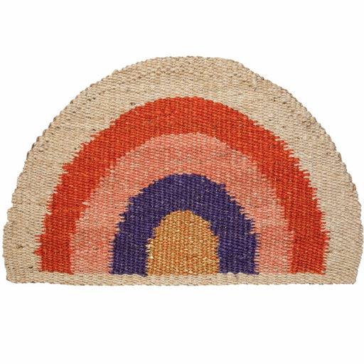 Large Rainbow Doormat Red/Purple