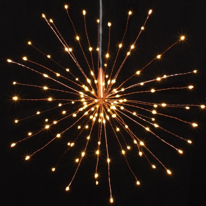 Copper Starburst Lights 30cm