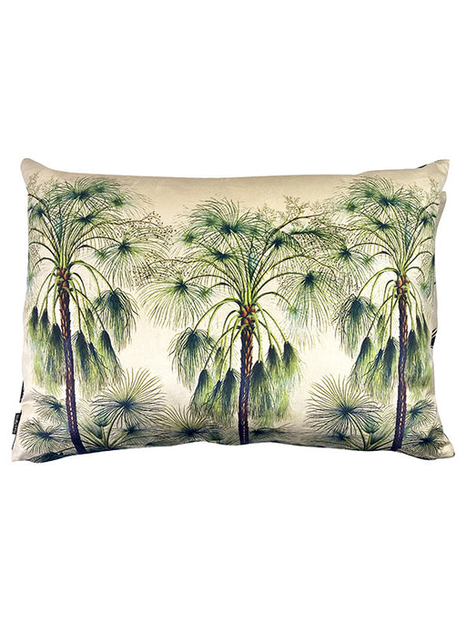 Velvet Cushion Green Palms 50x70
