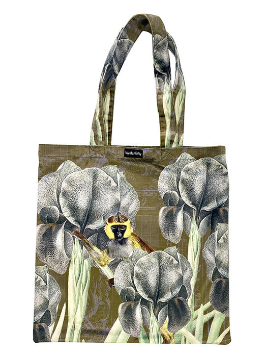 Velvet Tote Bag Antique Ape