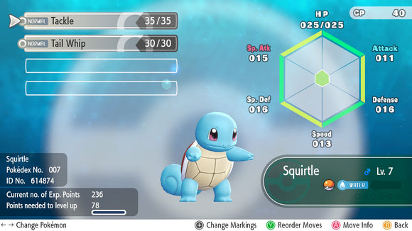 #007 - Squirtle - Let's Go
