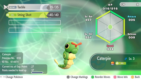 #010 - Caterpie - Let's Go