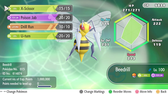 #015 - Beedrill - Let's Go