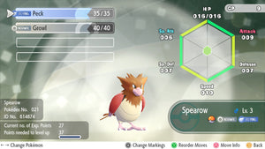 #021 - Spearow - Let's Go