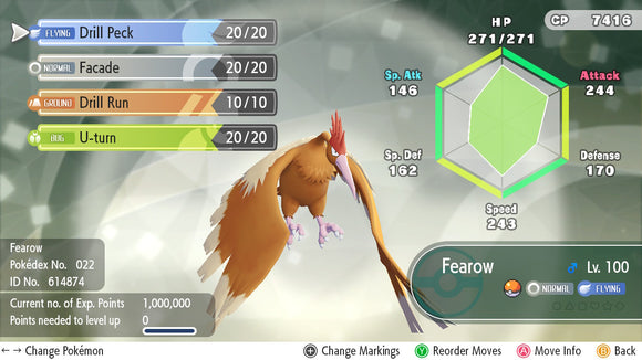 #022 - Fearow - Let's Go