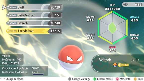 #100 - Voltorb - Let's Go
