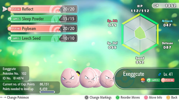 #102 - Exeggcute - Let's Go