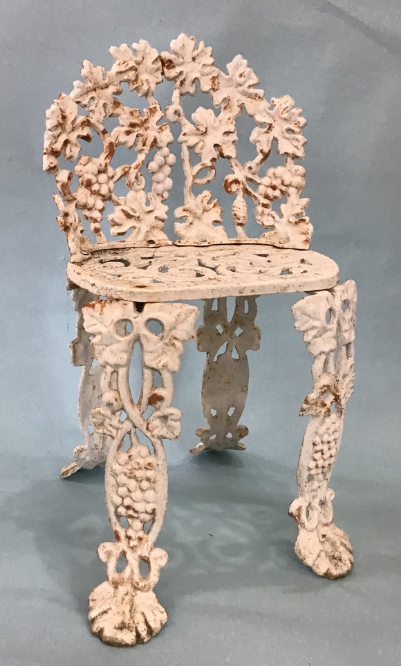 A Vintage Cast Iron Garden Chair, Grape Motif, American 20th Century Circa 1960's