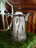 Beautiful Antique C1870 Silver Plated Cold Water Meriden Tankard Pitcher