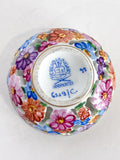 Herend Hand Painted Colorful Floral Openwork Porcelain Sphere Bonbonniere Box Bottom Markings