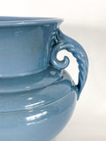 Vintage Light Blue Seaside Abingdon 552 Handled Ceramic Vase Close Up Handle