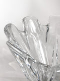 Clear Crystal Glass Scalloped Splash Orrefors Sweden Candy Dish Bowl Close Up Edge 2