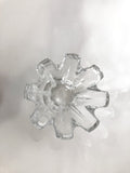 Clear Crystal Glass Scalloped Splash Orrefors Sweden Candy Dish Bowl Top