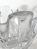 Clear Crystal Glass Scalloped Splash Orrefors Sweden Candy Dish Bowl Close Up Logo