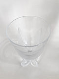 Vintage Lalique Clear Crystal Fern Shell Motif Ormonde Footed Vase Slightly Above