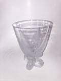 Vintage Lalique Clear Crystal Fern Shell Motif Ormonde Footed Vase With Flash